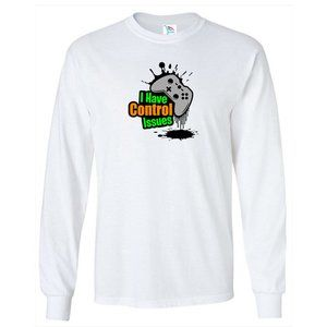 Youth Kids Control Issues Color Long Sleeve